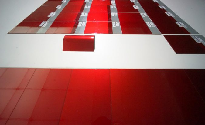 開発中に試作したカラーパネル