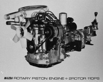 10A型2ローターエンジン