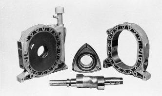 ロータリーエンジン主要構造部品、ローターとハウジング