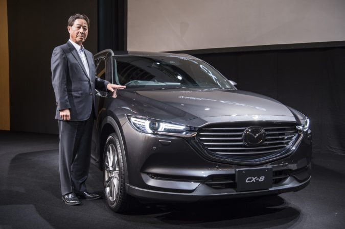 代表取締役社長兼 CEO 小飼 雅道(こがい まさみち) 新型マツダCX-8発表会
