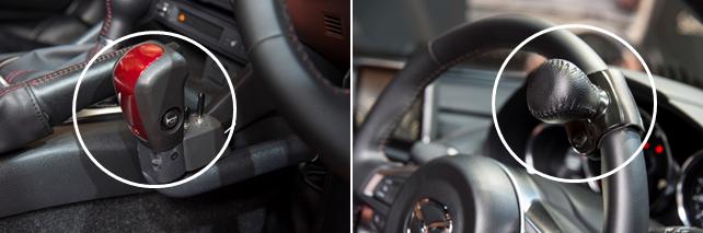 手動運転装置付のロードスター RF コントロールグリップ ステアリング操作用のグリップ