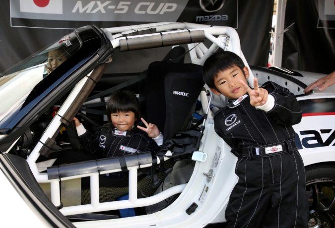マツダファンフェスタ 2017 in OKAYAMA、グローバルMX-5 Cup car、ロードスターパーティレース仕様車、記念撮影