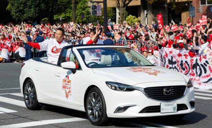 2016年広島東洋カープ優勝パレード、アテンザオープンカー