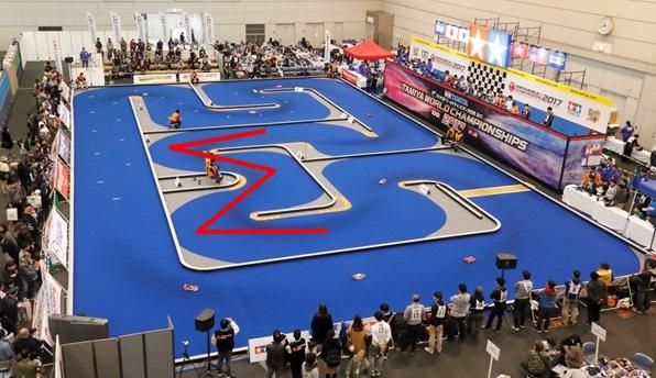 株式会社タミヤ主催のマツダチャンピオンシップ RCカーコースレイアウト