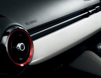 デミオの特別仕様車「Noble Crimson」 インパネデコレーションパネル