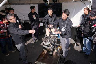 MAZDA FAN FESTA 2017 in OKAYAMA 10Aエンジンの分解組立ショー