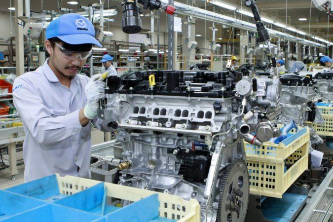 タイ王国チョンブリ県にあるパワートレイン生産拠点「マツダパワートレインマニュファクチャリング(タイランド) Co., Ltd.」(以下、MPMT)のエンジン機械加工工場