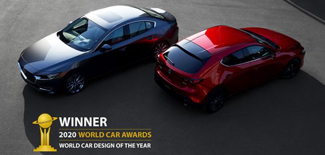 「MAZDA3」が2020年「ワールド・カー・デザイン・オブ・ザ・イヤー」を受賞