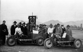 1934年「招魂祭」での優勝記念写真