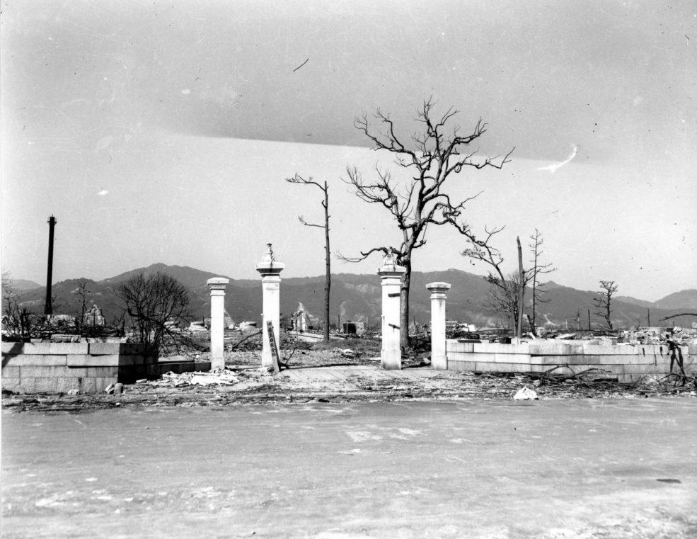 当時の広島県庁周辺